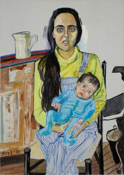 Alice Neel: Ginny and Elizabeth, 1975. Öl auf Leinwand Photo: Ethan Palmer © Estate of Alice Neel