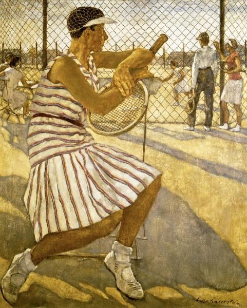 Lotte Laserstein - Von Angesicht zu Angesicht. Lotte Laserstein (1898-1993), Tennisspielerin, 1929, Öl auf Leinwand, 110 × 95,5 cm, Privatbesitz, Foto: Berlinische Galerie © VG Bild-Kunst, Bonn 2018