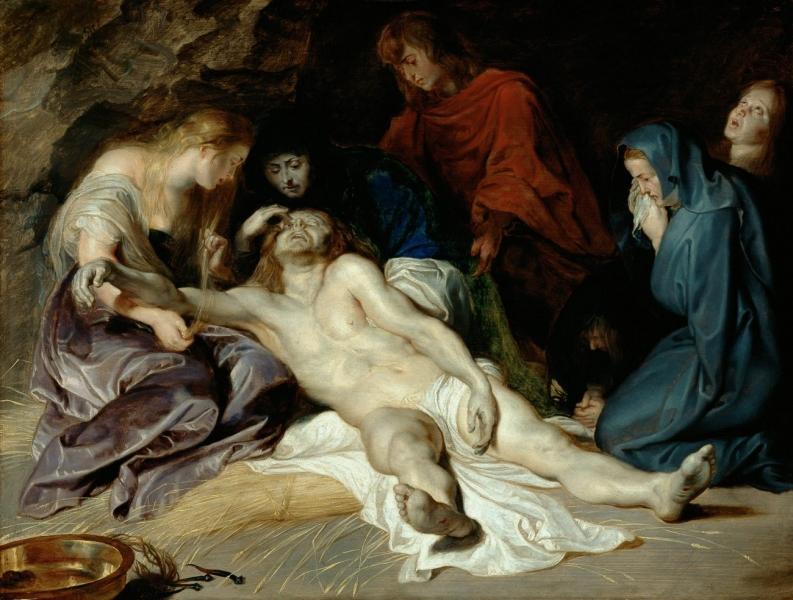 Peter Paul Rubens (1577 Siegen - 1640 Antwerpen), Beweinung Christi, Eichenholz, 40,5 x 52,5 cm, 1614 datiert © KHM-Museumsverband