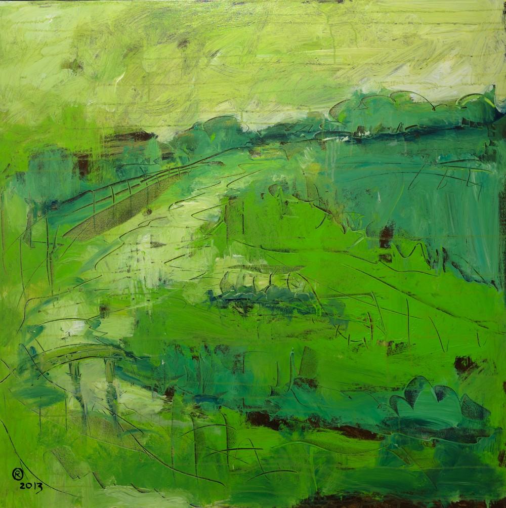 Roland Oberholzner, April 100 x 100 cm, Acryl auf Leinwand | Art On Screen - [AOS] Magazine NEWS