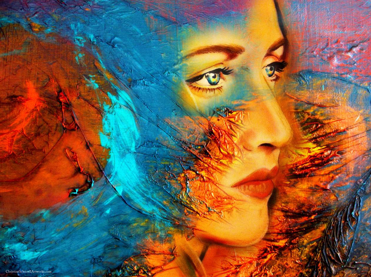 ChristineSchnoellArtworks.com, Serie Allegorical Dimensions, Impermanent and Eternal Kate Winslet, 120 x 90 cm Mixed Medias, printed on Canvas