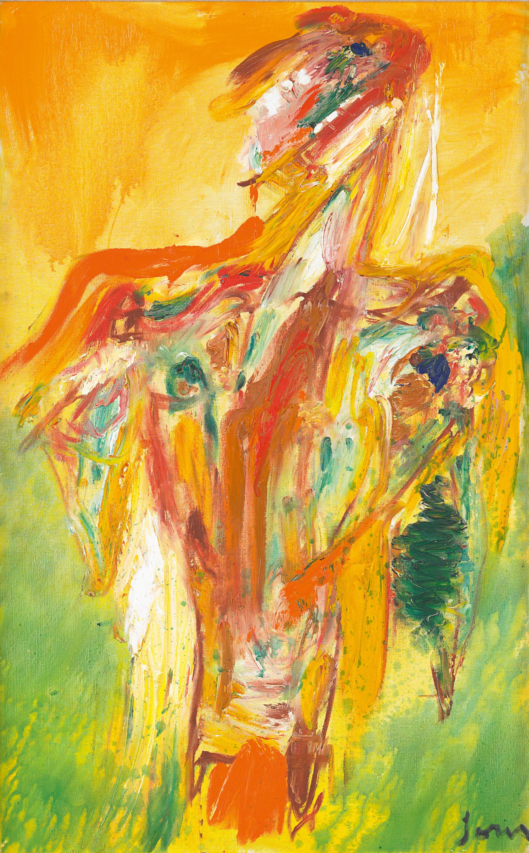 Asger Jorn, Vendepunktet, 1966, Öl auf Leinwand, 117 x 73 cm, © BILDRECHT Wien, 2016, Foto Mischa Nawrata, Wien