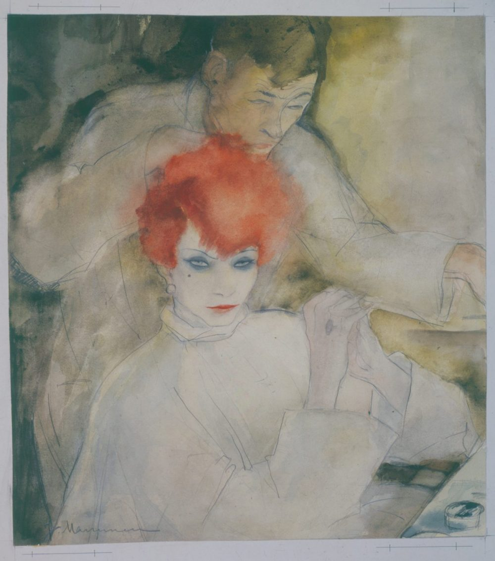 Jeanne Mammen - Ausstellung, Die Rothaarige, Art On Screen - News - [AOS] Magazine